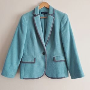 Jones New York Signiture Teal Blazer